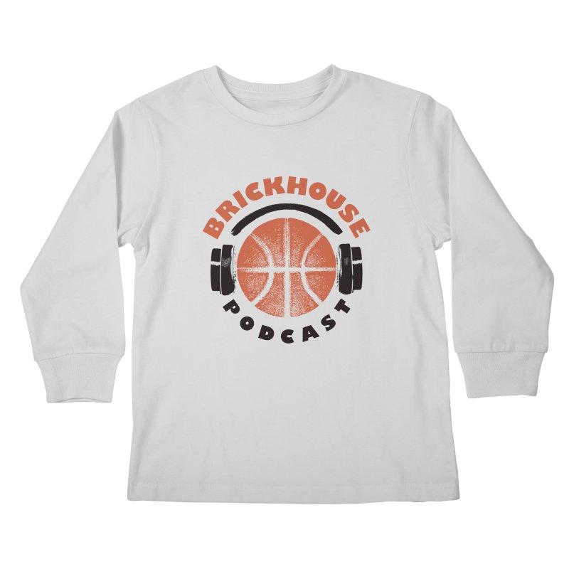 Brickhouse Podcast Logo Apparel (Pumped) Orange/Black Kids Longsleeve T-Shirt by Brickhouse Podcast Shop