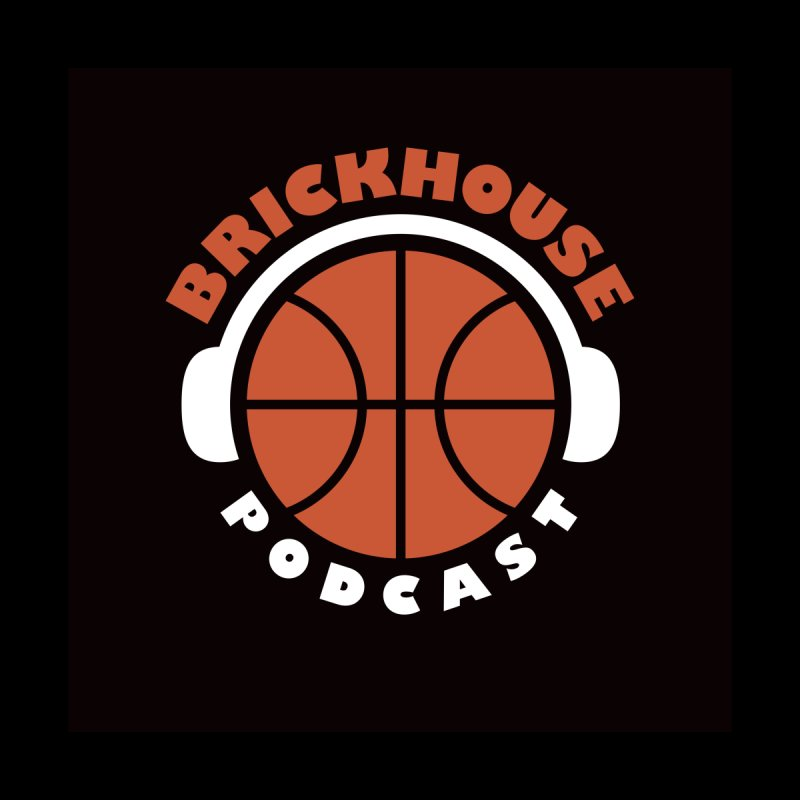 Brickhouse Podcast Logo Wall Art (Flat) Orange/White by Brickhouse Podcast Shop