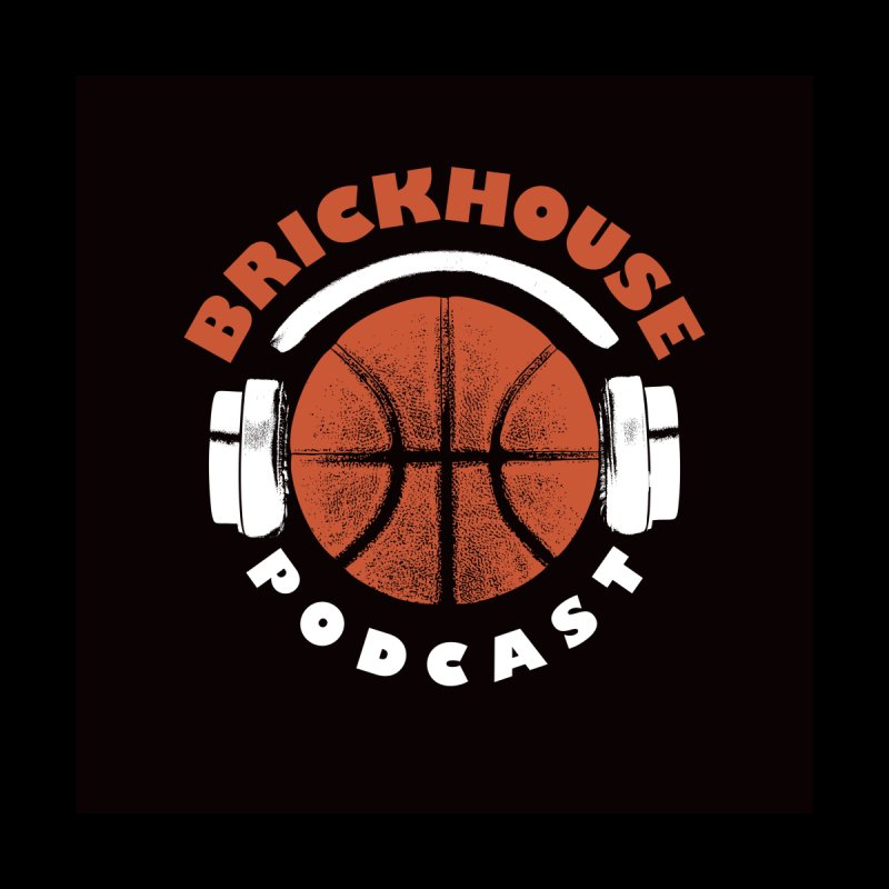 Brickhouse Podcast Logo Wall Art (Pumped) Orange/White Home Fine Art Print by Brickhouse Podcast Shop