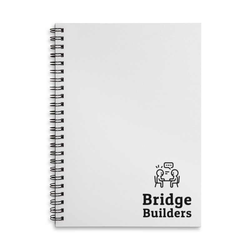 Bridge Builders Black Logo in Lined Spiral Notebook by bridgebuilders's Shop