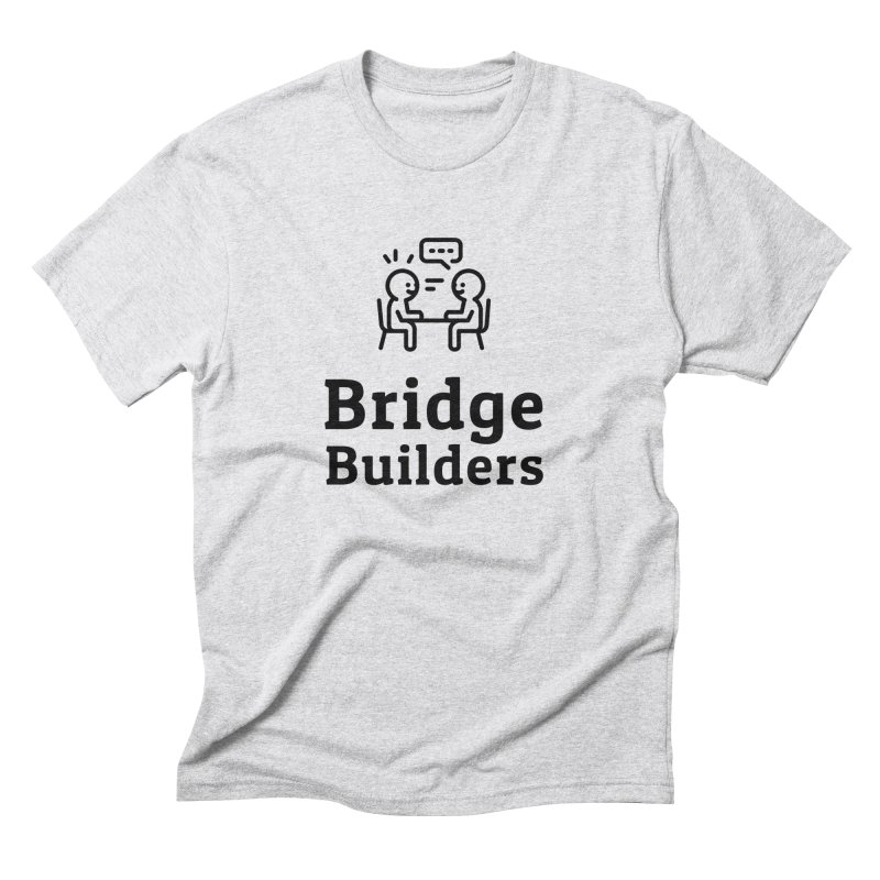 Bridge Builders Black Logo in Men's Triblend T-Shirt Heather White by bridgebuilders's Shop