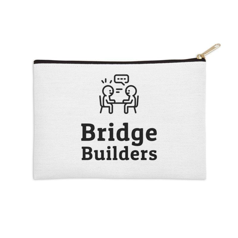 Bridge Builders Black Logo Accessories Zip Pouch by bridgebuilders's Shop