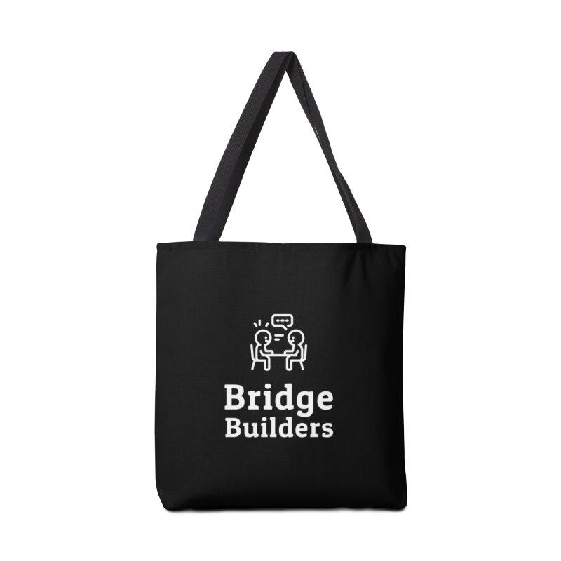 Bridge Builders White Logo Accessories Tote Bag Bag by bridgebuilders's Shop