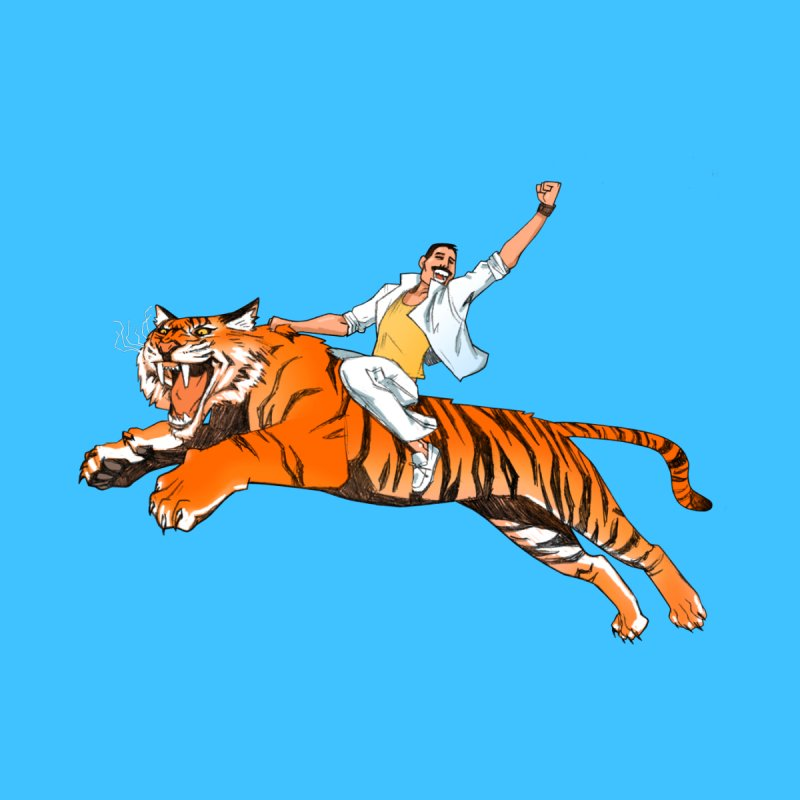 Freddie on a Tiger by Bridgit Connell's Artist Shop!