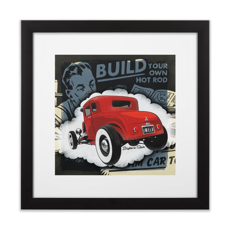 Dream it. Build it. Home Framed Fine Art Print by Brightwork Studio Shop