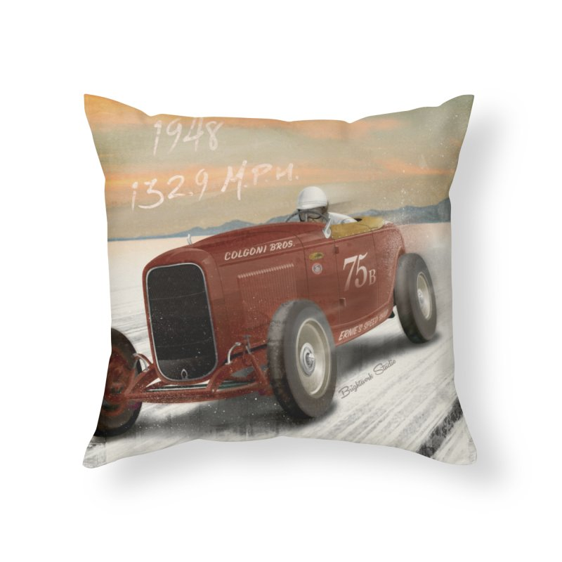 Time Machine Home Throw Pillow by Brightwork Studio Shop