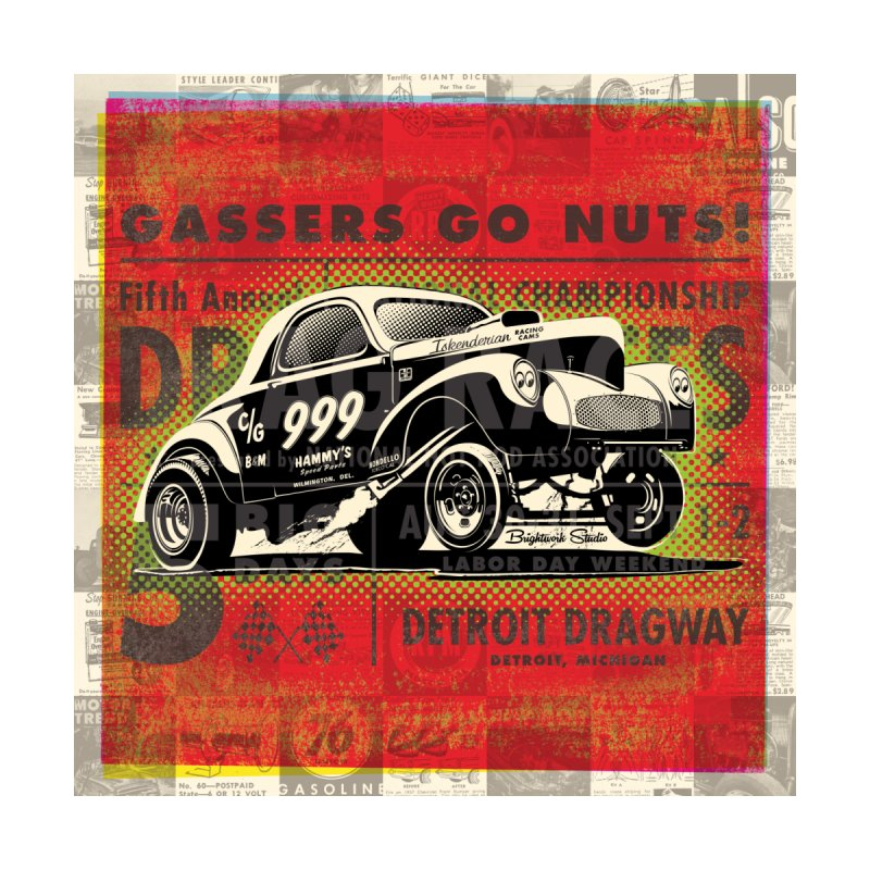 Gassers Go Nuts Accessories Skateboard by Brightwork Studio Shop