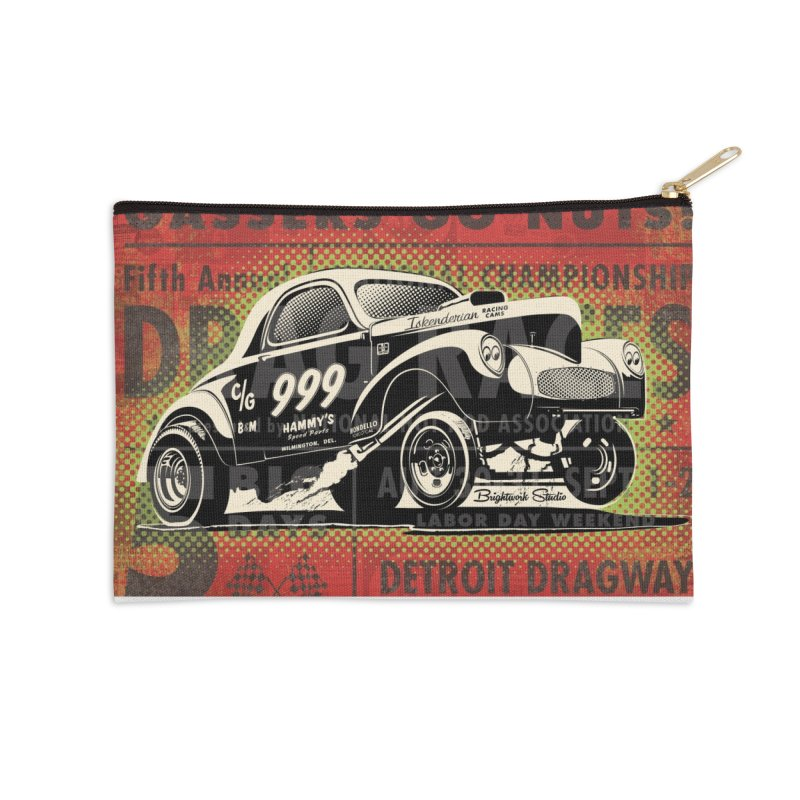 Gassers Go Nuts Accessories Zip Pouch by Brightwork Studio Shop