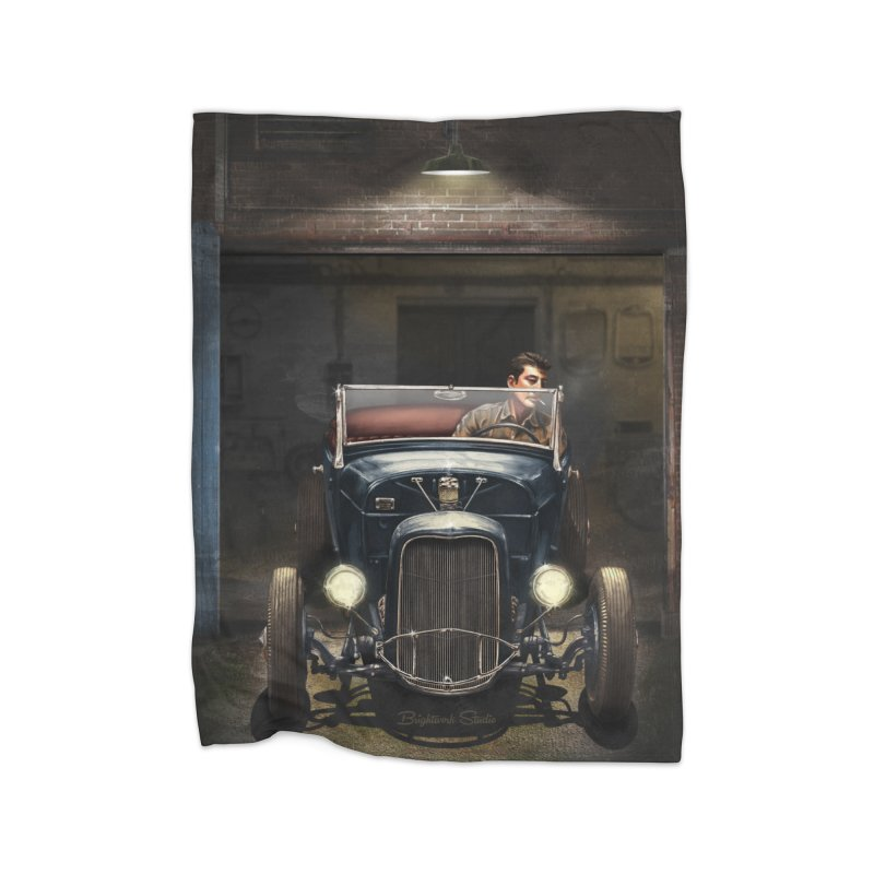 Birth of a Hot Rod Home Blanket by Brightwork Studio Shop