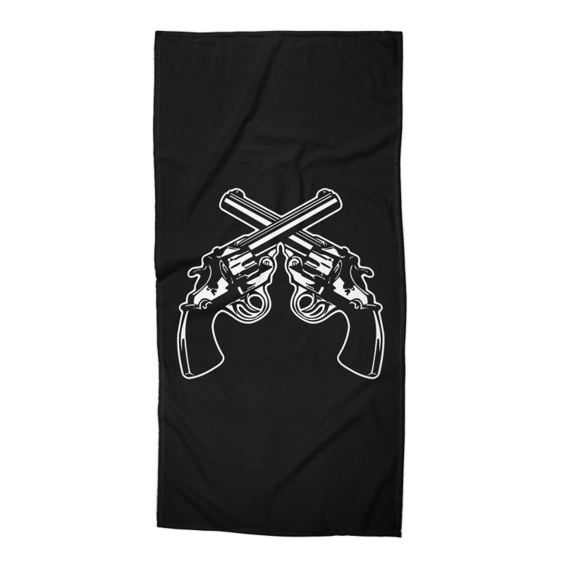 pistolas Accessories Beach Towel by Brimstone Designs