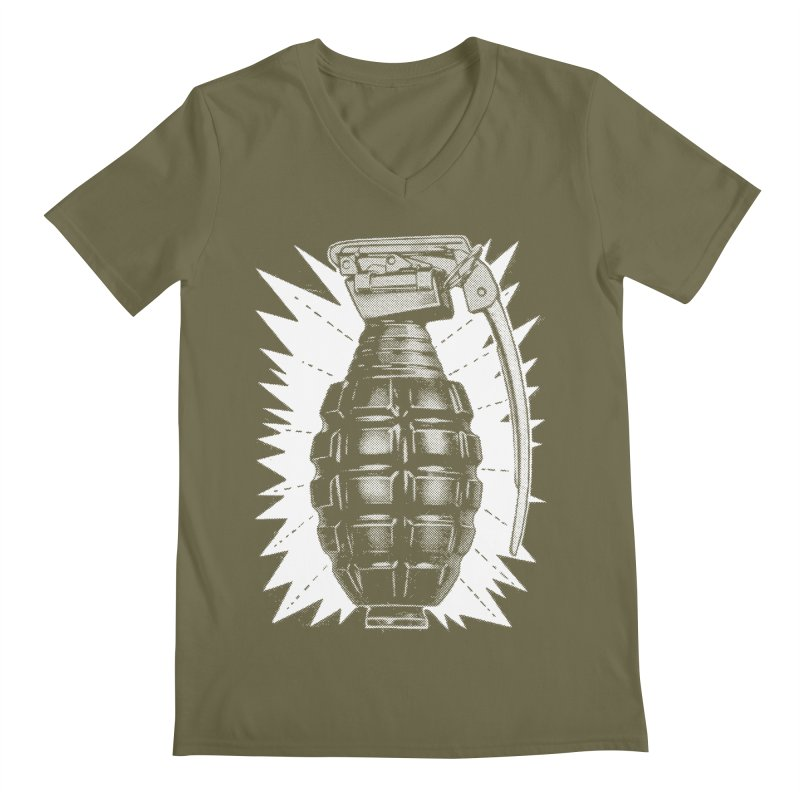 pineapple grenade Men's V-Neck by Brimstone Designs