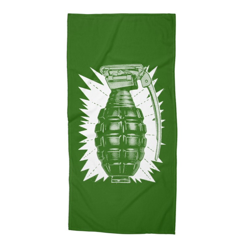 pineapple grenade Accessories Beach Towel by Brimstone Designs