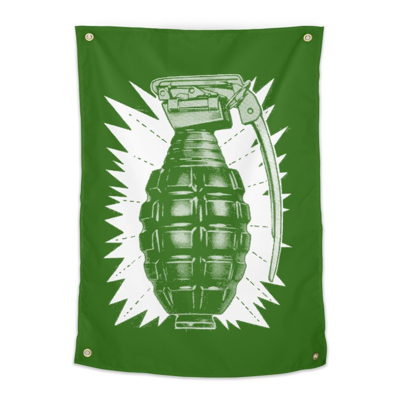 pineapple grenade  Home Tapestry by Brimstone Designs