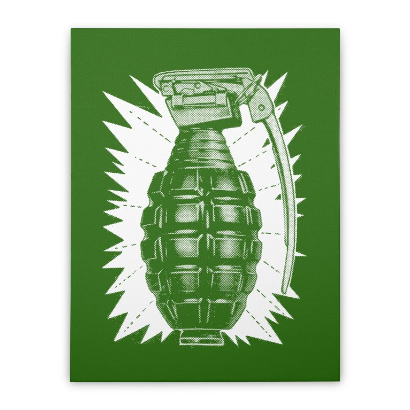 pineapple grenade  Home Stretched Canvas by Brimstone Designs