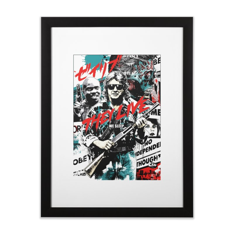THEY LIVE Home Framed Fine Art Print by Brimstone Designs