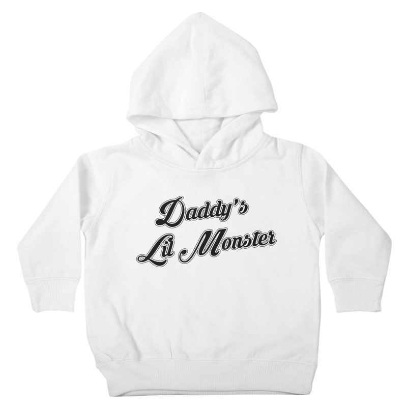 Daddy's Lil Monster Kids Toddler Pullover Hoody by Brimstone Designs