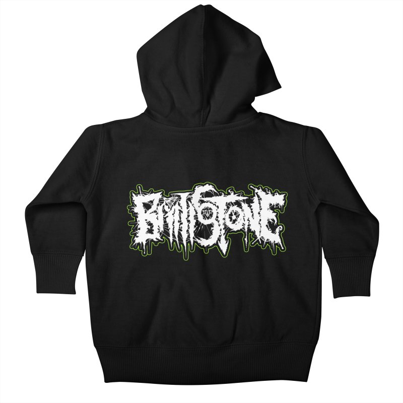 REND THY FLESH Kids Baby Zip-Up Hoody by Brimstone Designs