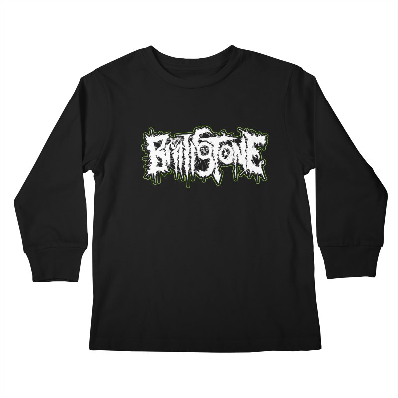REND THY FLESH Kids Longsleeve T-Shirt by Brimstone Designs