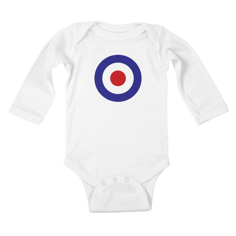 roundel Kids Baby Longsleeve Bodysuit by Brimstone Designs