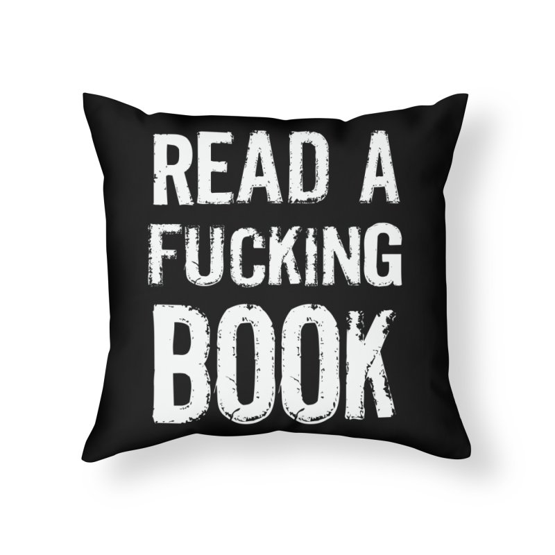 READ Home Throw Pillow by Brimstone Designs