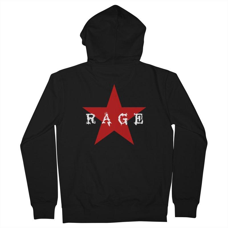 rage Men's Zip-Up Hoody by Brimstone Designs