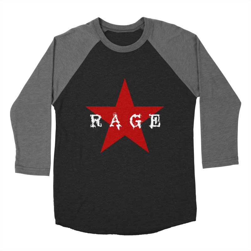 rage Men's Baseball Triblend T-Shirt by Brimstone Designs