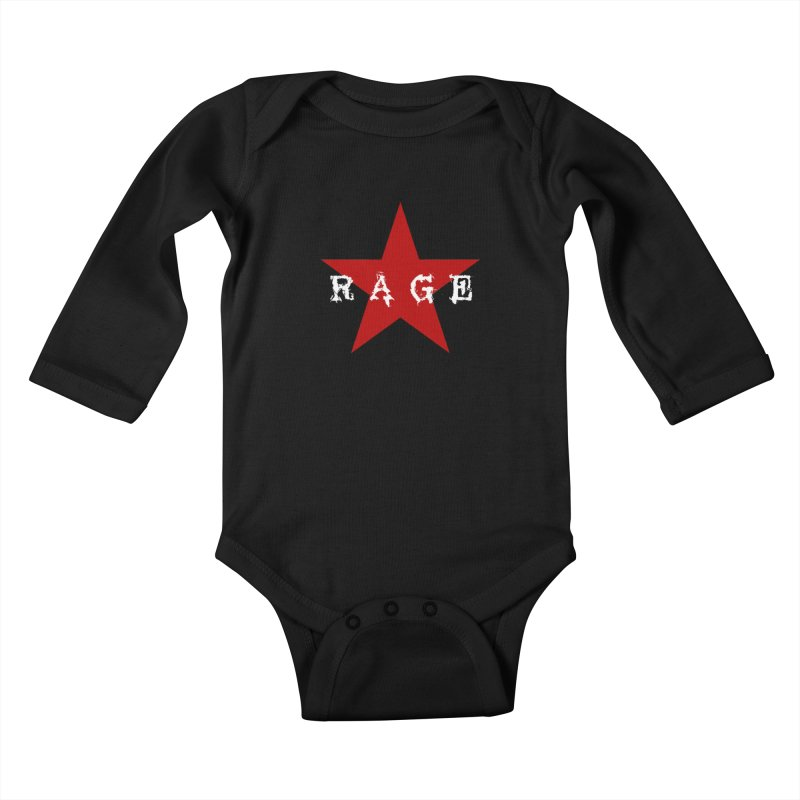rage Kids Baby Longsleeve Bodysuit by Brimstone Designs