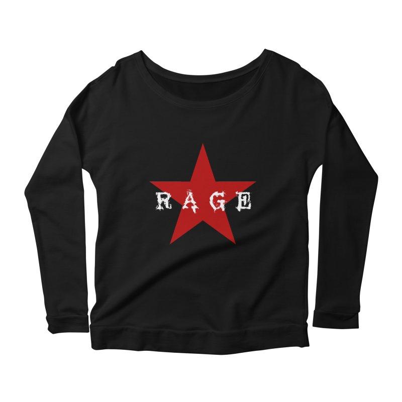 rage Women's Longsleeve Scoopneck  by Brimstone Designs