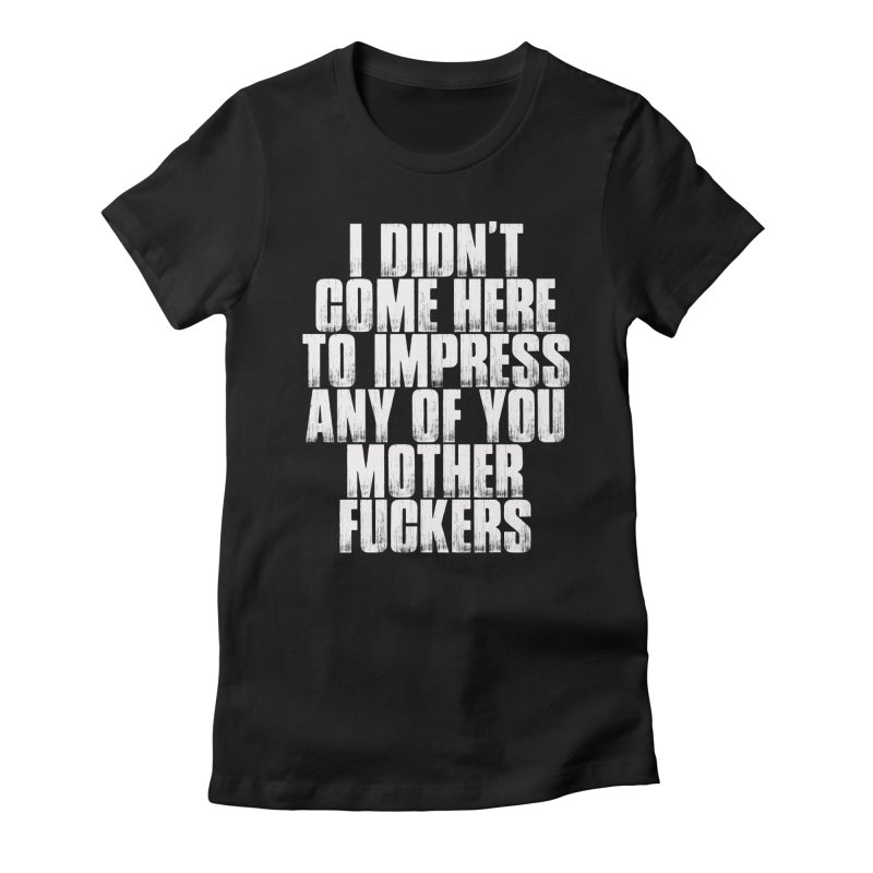impress Women's Fitted T-Shirt by Brimstone Designs