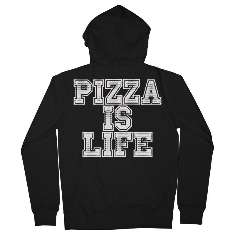 PIZZA Men's Zip-Up Hoody by Brimstone Designs