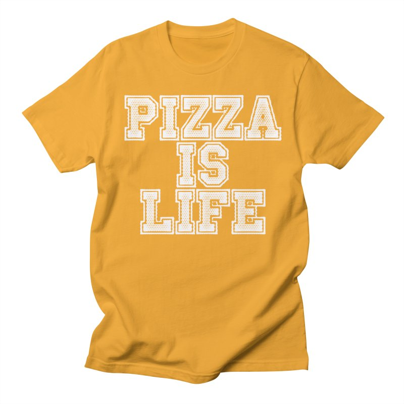 PIZZA Men's T-shirt by Brimstone Designs