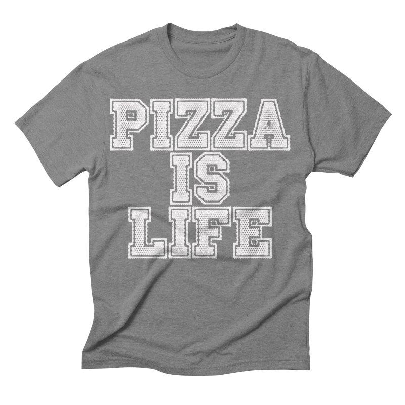 PIZZA Men's Triblend T-shirt by Brimstone Designs