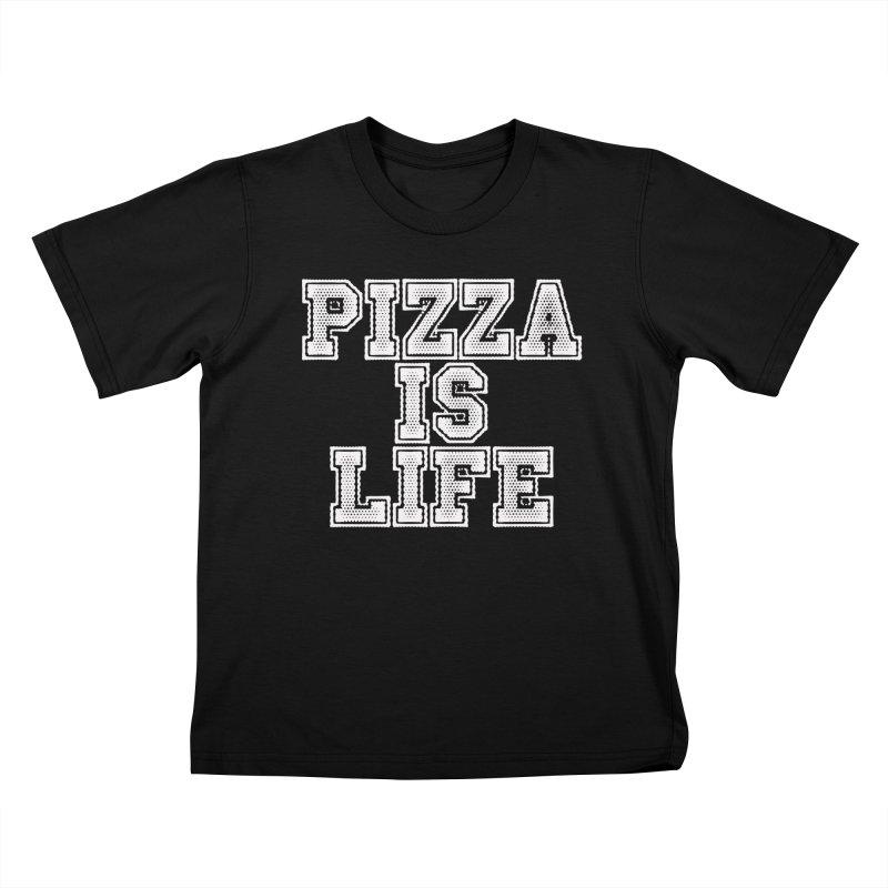 PIZZA Kids T-shirt by Brimstone Designs