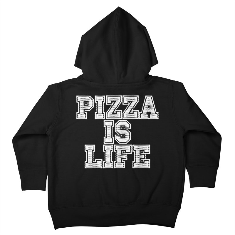 PIZZA Kids Toddler Zip-Up Hoody by Brimstone Designs