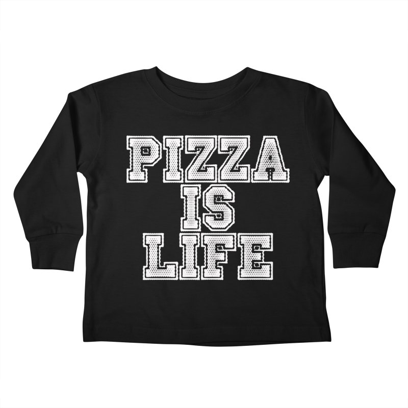 PIZZA Kids Toddler Longsleeve T-Shirt by Brimstone Designs