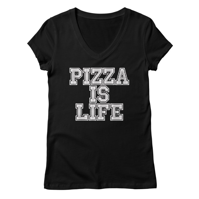 PIZZA Women's V-Neck by Brimstone Designs