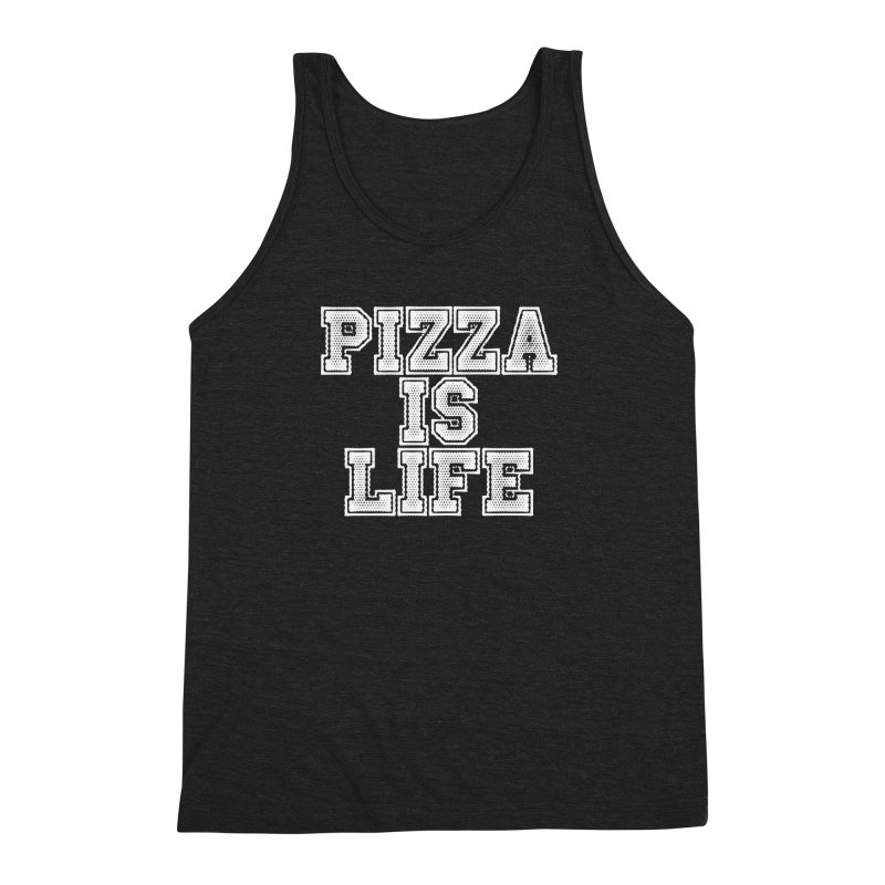 PIZZA Men's Triblend Tank by Brimstone Designs