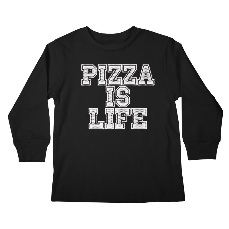 PIZZA Kids Longsleeve T-Shirt by Brimstone Designs