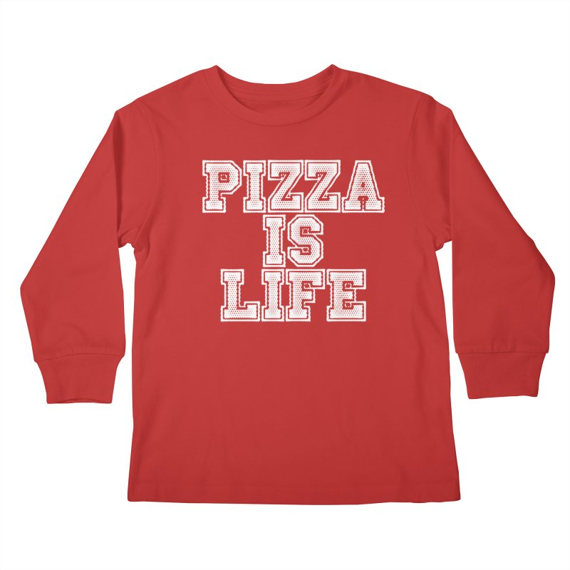 PIZZA Kids Longsleeve T-Shirt by Brimstone Designs