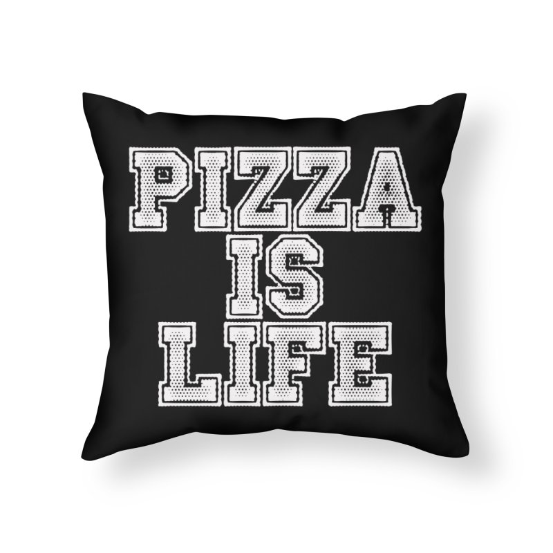 PIZZA Home Throw Pillow by Brimstone Designs