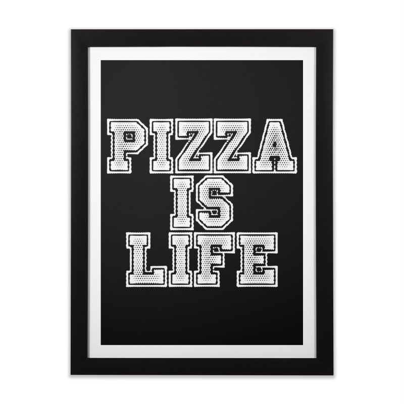 PIZZA Home Framed Fine Art Print by Brimstone Designs