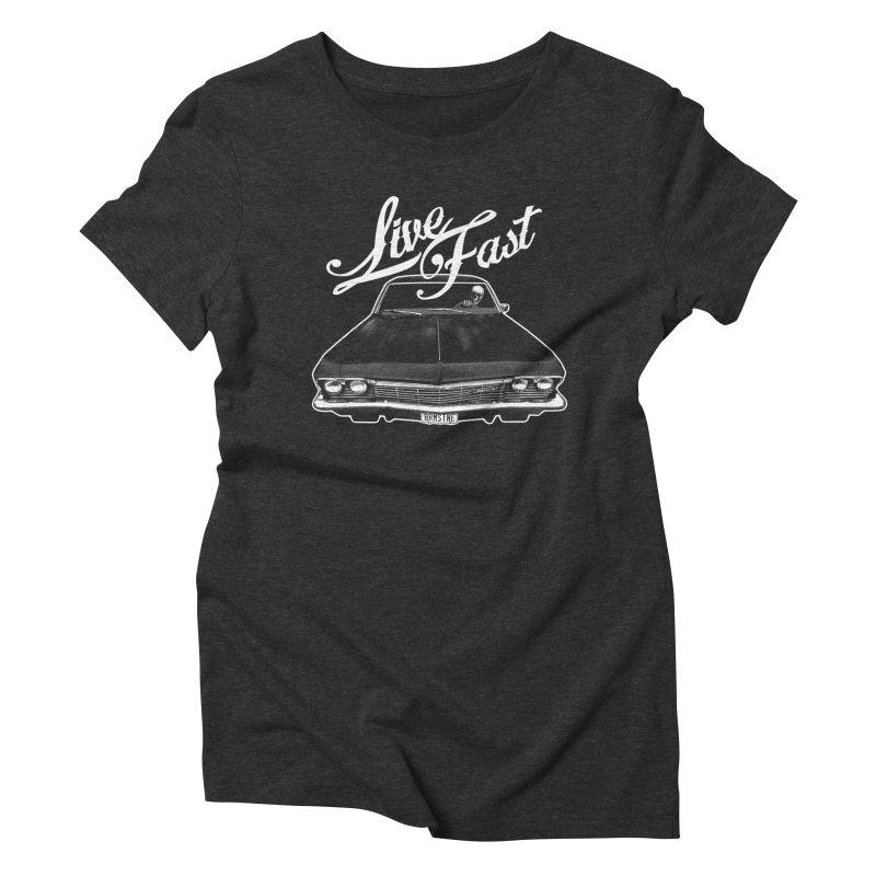 live fast Women's Triblend T-shirt by Brimstone Designs