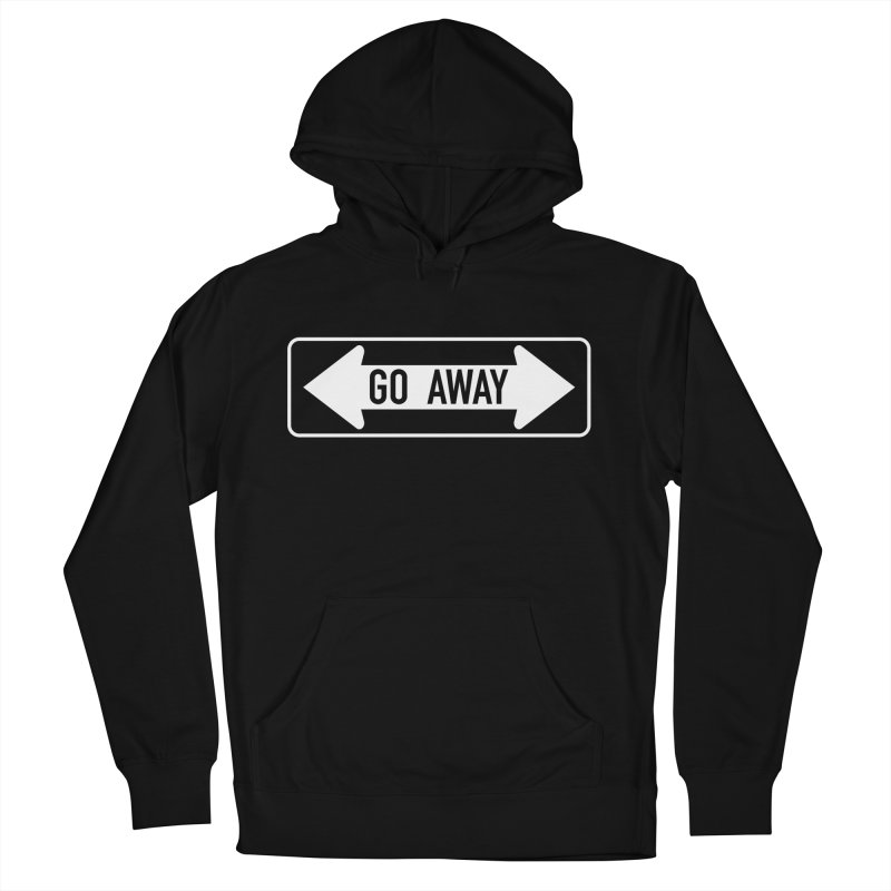 GO AWAY Men's French Terry Pullover Hoody by Brimstone Designs