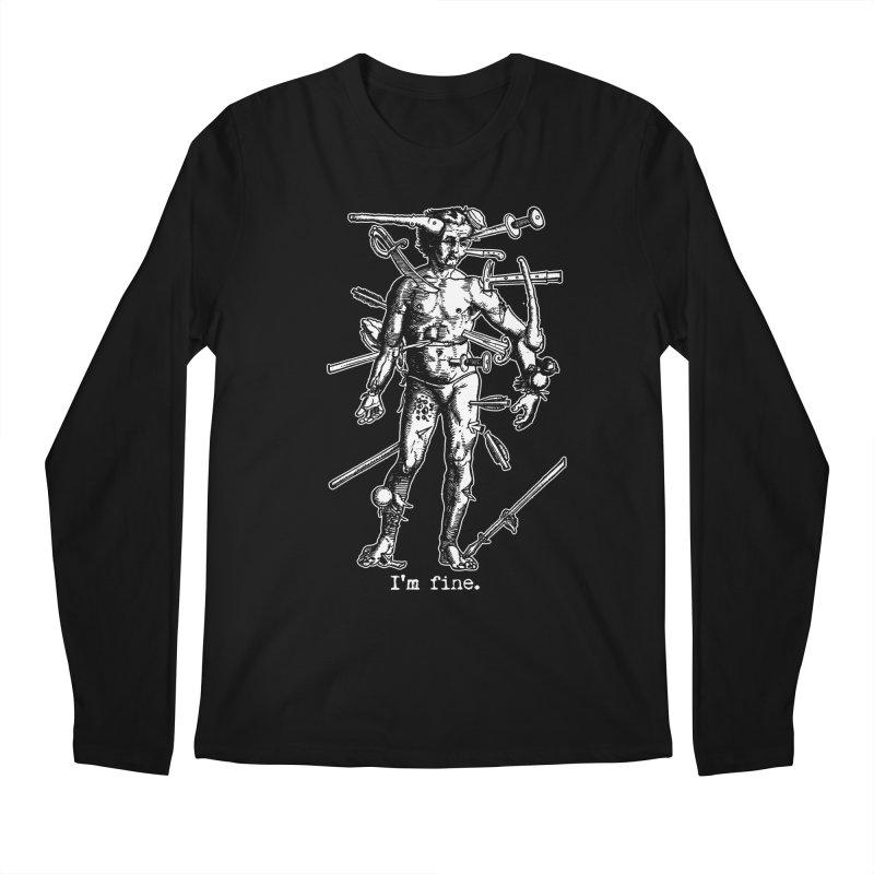 I'm fine Men's Longsleeve T-Shirt by Brimstone Designs