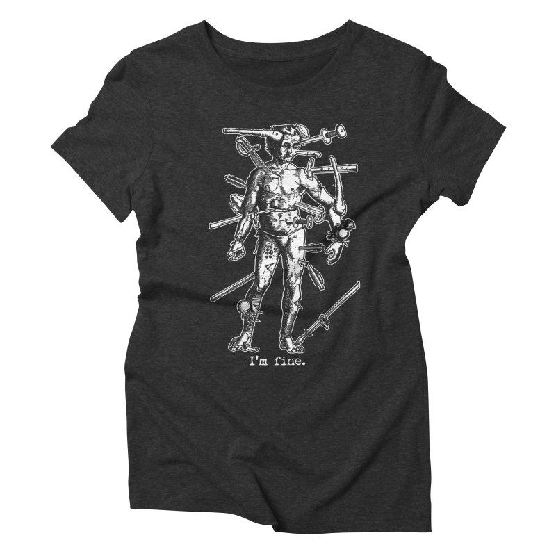 I'm fine Women's Triblend T-shirt by Brimstone Designs