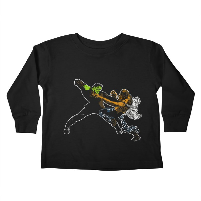 FRANKENSTEIN vs WOLFMAN Kids Toddler Longsleeve T-Shirt by Brimstone Designs