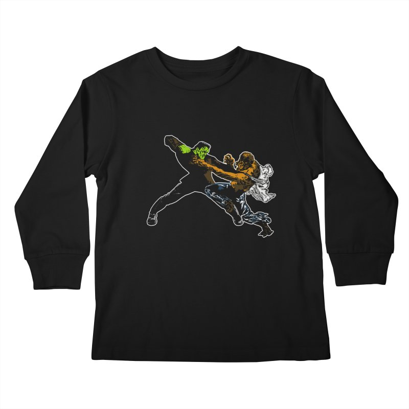 FRANKENSTEIN vs WOLFMAN Kids Longsleeve T-Shirt by Brimstone Designs