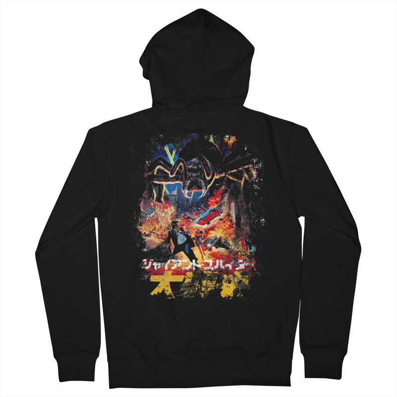 SPIDERZILLA Men's Zip-Up Hoody by Brimstone Designs