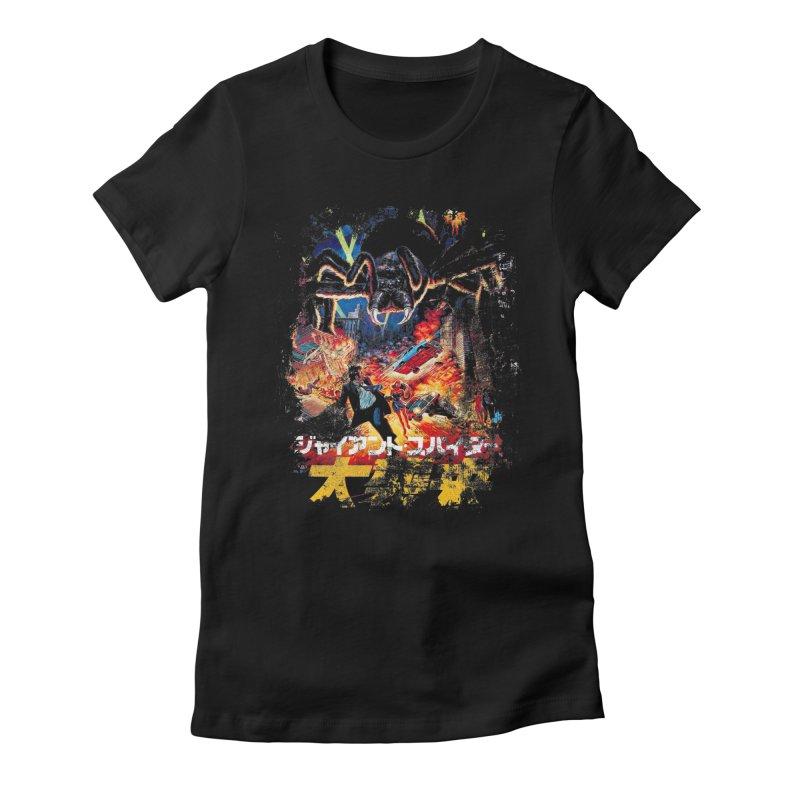 SPIDERZILLA Women's Fitted T-Shirt by Brimstone Designs