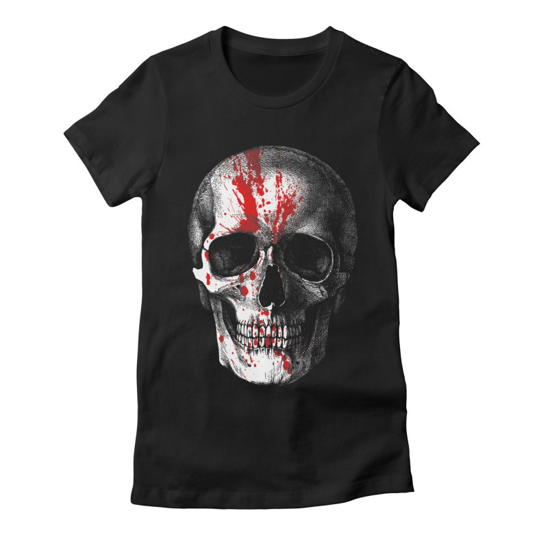 blood 'n' bone Women's Fitted T-Shirt by Brimstone Designs
